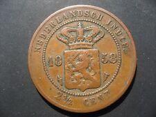 Netherlands East Indies - Kingdom of Netherlands 21/2 Cents, 1858.