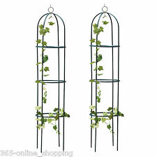 2PC STEEL GARDEN OBELISK GARDEN DECORATION OUTDOOR ROSE PLANT ARCH 1.9M FREE P&P