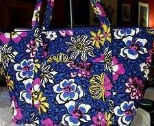 Vera Bradley MILLER AFRICAN VIOLET XL weekender carryall travel tote or baby bag