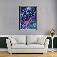 Love Letter Full Drill DIY 5D Diamond Painting Embroidery Room Art Kit violet