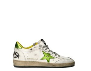 Shoes GOLDEN GOOSE Man Sneakers trendy BIANCO Fabric,Natural leather GMF00117-38