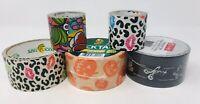 Lot Of Duck Tape Make Market Tape Chalkboard Leopard Lips Halloween Pumpkin