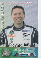 Christophe Tinseau Pescarolo Sport Racing Promo Card 2009 Le Mans.