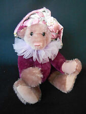 "Sersha Collectibles Mohair Jointed 12"" Jester Bear #4 of 25 by Serieta Harrell"