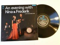 An Evening with Nina & Frederik  Mono Columbia SX6077 Vinyl LP