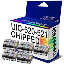 5Set ink Cartridge PGI520 CLI521 CHIPPED for CANON MP540 MP550 MP560 MP620 MP630
