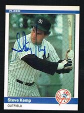 Steve Kemp #129 signed autograph auto 1984 Fleer Baseball Trading Card