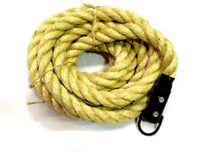7 METRES CROSSFIT CLIMBING ROPE 1.5' DIA SISAL  STRONGMAN GYM FITNESS RINGS ARMY