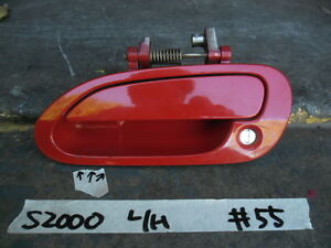 Honda S2000 AP1 JDM. Factory Exterior Door Handle. Red. LHS. #55