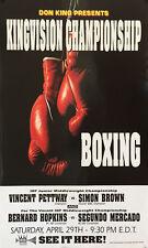 Original Vintage Bernard Hopkins vs. Segundo Mercardo  Boxing Fight Poster