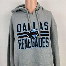 New 47 Brand Dallas Renegades Headline Hoodie Sweatshirt XFL Football Grey XL