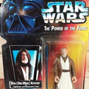 Star Wars Power of the Force Ben Obi-Wan Kenobi 1995 with Long Lightsaber