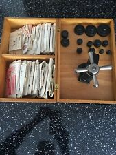 Vintage Watchmaker's BMC Crystal Press, Dies and Assorted Crystals