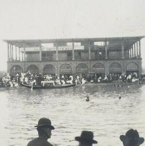 Venice Los Angeles California 1906 Surf Bathhouse Building Boat Beach Photo J109