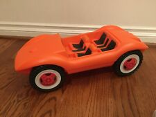 Vtg Blow-Molded Fashion Doll Car Orange Sand Buggy Toy Barbie BIG West Germany