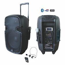 "ENCEINTE PORTABLE MOBILE AMPLIFIEE 15"" 700W BATTERIE 2 MICROS USB/MP3/BLUETOOTH"