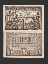 French West Africa,1 Franc Banknote,(1944),Choice About Uncirculated Cat#34
