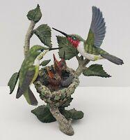 The Danbury Mint - Spring Arrivals - Hummingbird Nest Figure - MBI