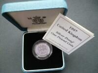 1997 ROYAL MINT SILVER PROOF £1 COIN HOUSED IN ROYAL MINT CASE WITH LEAFLET..