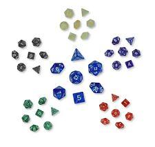 42 polyedrische Dados para ruedas y tabletopspiele - Bolígrafo papel - Acrílico