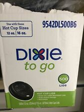 500 +Dixie to go cups 12 ounce and 16 ounce hot cups lids Item # 9542dl500b6.