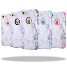 Granite Marble Shockproof Hybrid Protective Hard Case For iPhone 5 6 6s 7 8 Plus