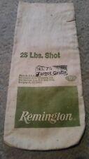 Remington Brand Lead Shot Canvas Bag Empty No. 7 1/2 Shot Target Grade