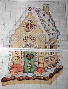 Stickvorlage,Point de Croix,Maria Diaz,Weihnachten,Pfefferkuchenhaus,Lebkuchen