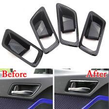 For Toyota C-HR 16-18 Carbon Fiber Style Car Inner Door Handle Bowl Cover Trim