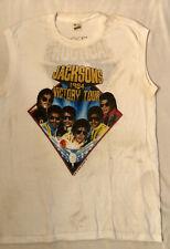 JACKSONS w/ MICHAEL JACKSON true vintage concert tour shirt 1984 Victory Tour!