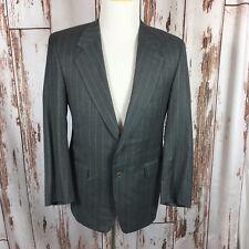 Winslowe & Krik Ltd. Mens Gray Pinstripe Wool Lined Suit 40S