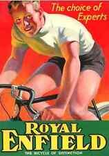Royal Enfield, Bicyclettes, affiche publicitaire, 1930 S, Royaume-Uni, Inde, d'impression A3