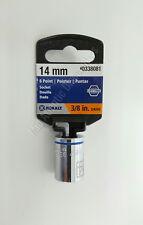 """New Kobalt 0338081 6 Point Socket 14mm 3/8"""" Drive"""
