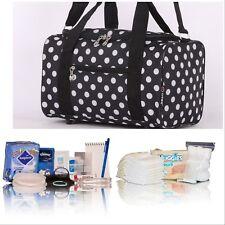 Black Polka dot pre-packed hospital/maternity bag mum-to-be newborn baby shower