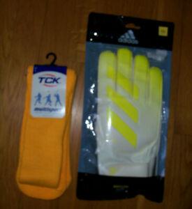 Goalkeeper Gloves Adidas XLite SOCCER DN8539 SOFT PRO GRIP & FREE SOCKS LOT 11
