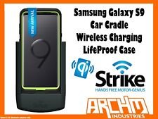 Strike Alpha Samsung Galaxy S9 Car Cradle Wireless Charge Lifeproof Case Pro