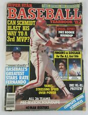 SUPER STAR 1982 BASEBALL YEARBOOK MAGAZINE '82 MIKE SCHMIDT PHILLIES