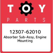 12307-62010 Toyota Absorber sub-assy, engine mounting 1230762010, New Genuine OE