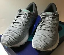 Asics T862N 9601 GEL Flux 5 Mid Grey White Opal Green Women's Running Shoes Sz 6