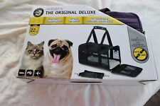 Sherpa Original Deluxe approved dog & cat carrier in Plum Color Size Large New