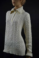 Ralph Lauren Cream Cableknit Long Sleeve Half-Zip Sweater XLarge  NWT