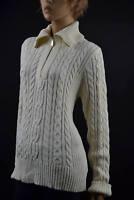 Ralph Lauren Cream Cableknit Long Sleeve Half-Zip Sweater XLarge  NWT