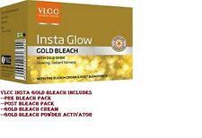 VLCC Insta Glow Gold Bleach 30g Facial Face Lightening Mask Cream
