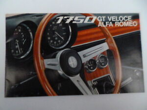ALFA ROMEO 1750 GT VELOCE COLOUR FOLD OUT SALES BROCHURE