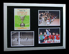 WEST HAM 1965 EUROPEAN CUP WINNERS CUP FINAL LTD FRAMED+EXPRESS GLOBAL SHIPPING