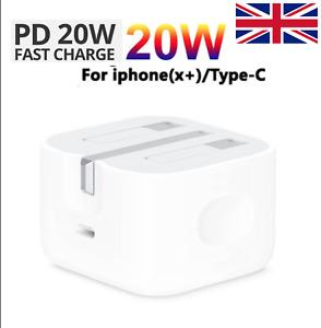 UK🇬🇧GenuineA2244 20W USB - C Mains UK Folding Travel Wall Charger iPhone Plug