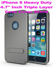 "For iPhone 6 4.7"" Inch Strong Durable Triple Layer Heavy Duty Case Cover Stand"