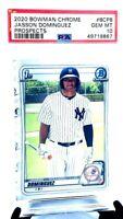2020 Bowman Chrome Prospects Yankees JASSON DOMINGUE RC CARD PSA 10 GEM MINT
