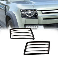 2x Front Headlight Protective Net Cover For Land Rover Defender 90110 2020 2022