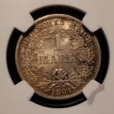 1901 D GERMANY 1 MARK EMPIRE NGC MS 64 GREAT EXAMPLE NICE ORIGINAL LUSTER